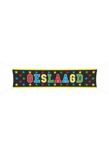 """Banner """"Geslaagd"""" - 180x40cm"""
