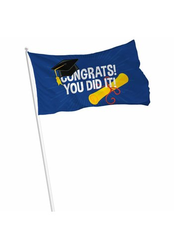 "Gevelvlag ""Congrats You Did It"" - 90x60cm"