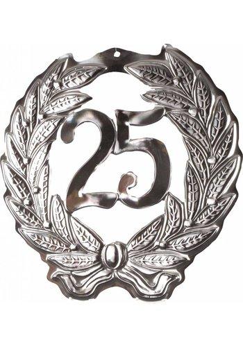 Kroonschild Zilver 25 - 40x40cm