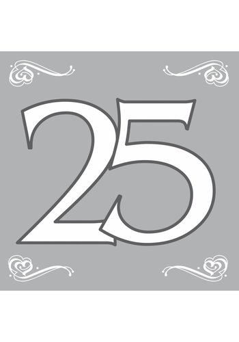 Servetten Zilver 25 - 33x33cm - 20 stuks