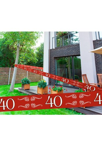 Afzet Lint Robijn 40 - 15 meter
