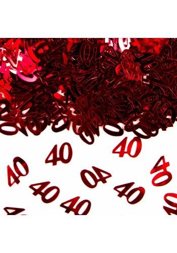 Tafel Confetti Robijn 40 - 14 gram