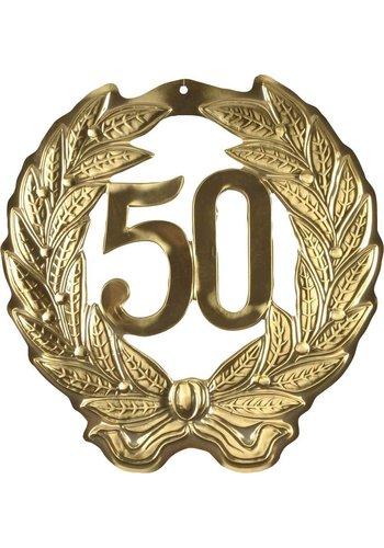 Kroonschild Goud 50 - 40x40cm