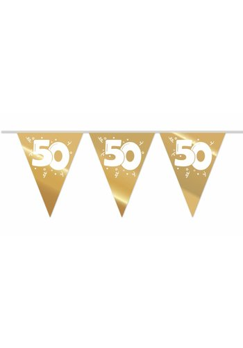 Vlaggenlijn Goud 50 - 10 meter