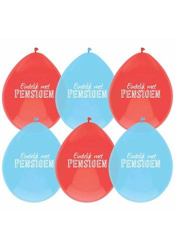 Pensioen ballonnen - 8 stuks