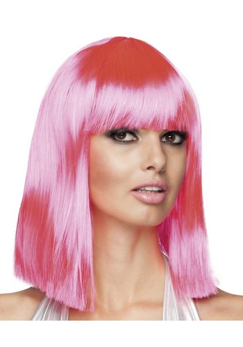 Pruik Dance - Neon Pink