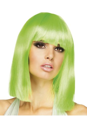 Pruik Dance - Neon Groen