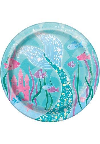 Mermaid bordjes 18cm - 8 stuks
