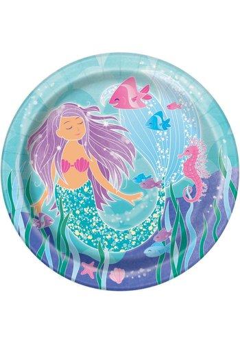 Mermaid bordjes 23cm - 8 stuks