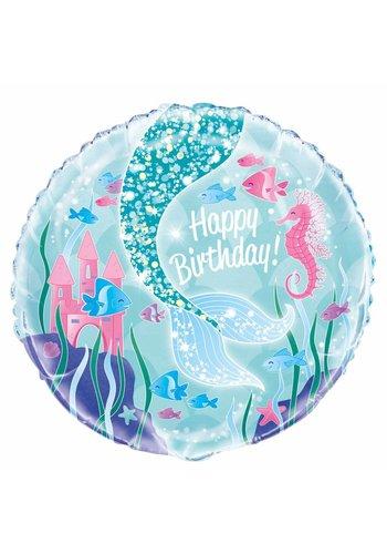 Mermaid folieballon 45cm