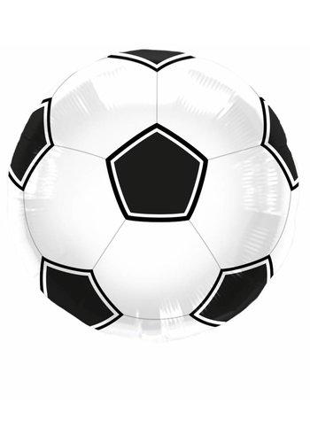 Voetbal folieballon 43cm