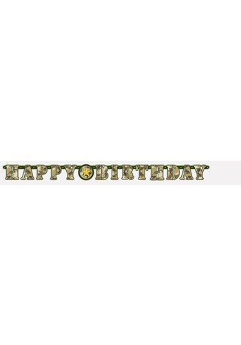 Camouflage letterbanner 275cm