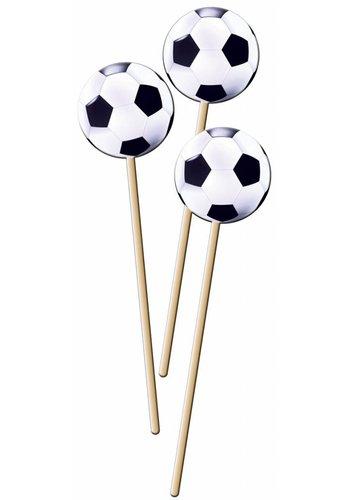 Voetbal prikkertjes - 20cm - 8 stuks