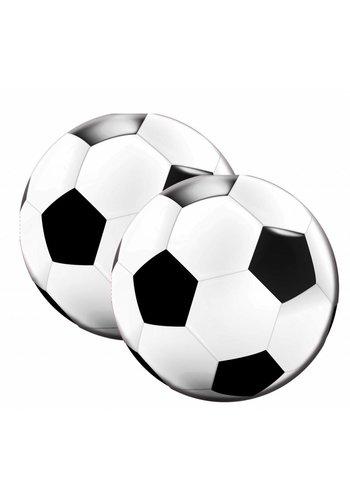 Voetbal servetten - 33x33cm - 20 stuks