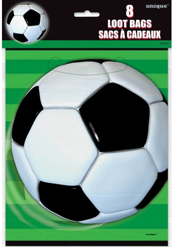 Voetbal uitdeelzakjes - 8 stuks