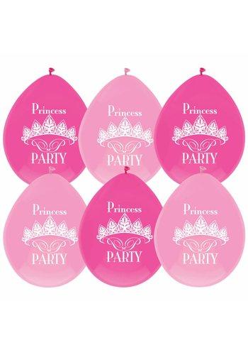 Prinsessen ballonnen - 6 stuks