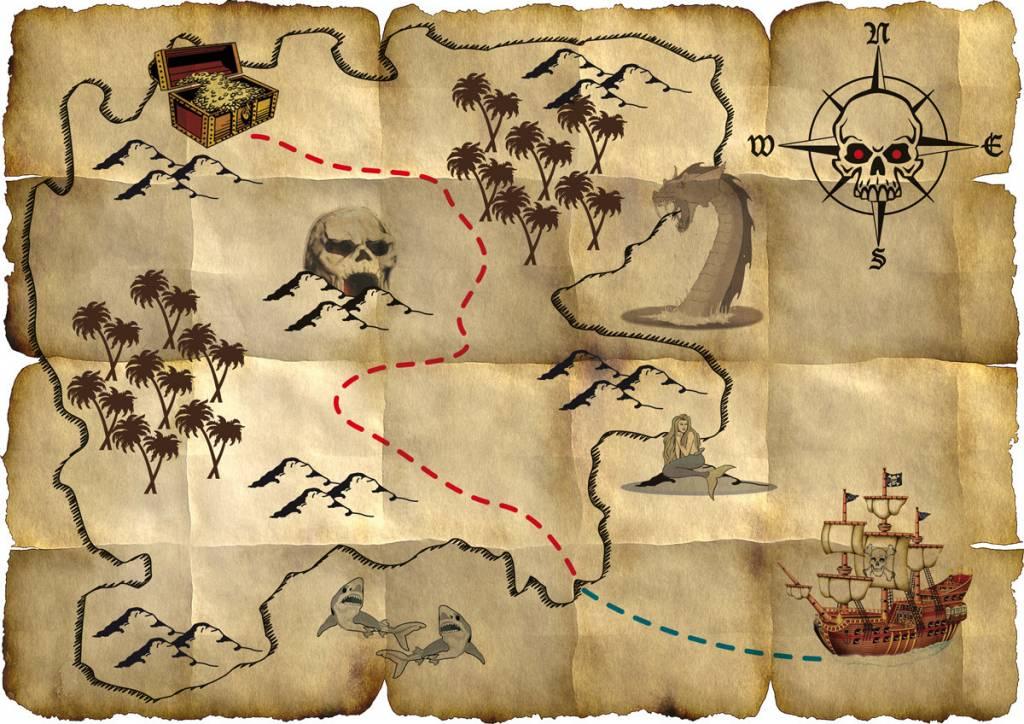 Fabulous Piraten schatkaart - Zorg voor Party online feestartikelen en @UC23