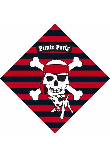 Piraten servetten 33x33cm - 20 stuks