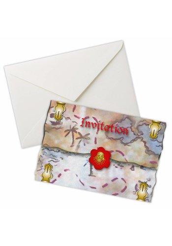 Piraten uitnodigingen - 8 stuks