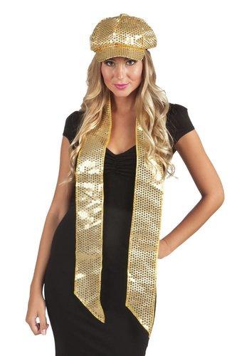 Glitter sjaaltje - Goud - 170x9cm