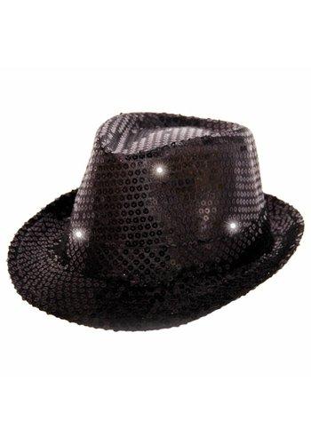 Popstar hoedje met LED - 6 kleuren