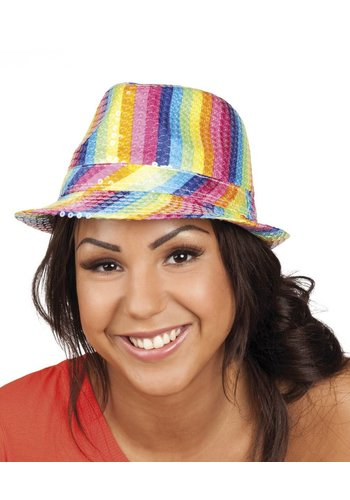 Hoed Popstar Rainbow