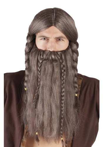 Pruik Viking Harald