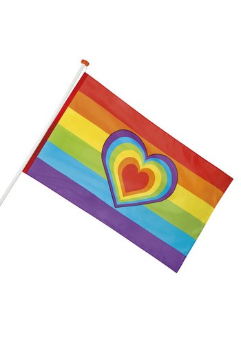 Vlag Rainbow Love - 90x150cm