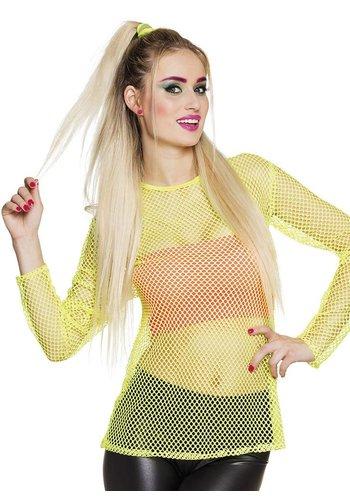 Visnet shirt - Neon Geel (M/L)