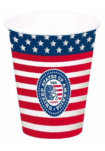 USA Party Bekers XL 700ml - 8 stuks