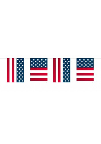USA Party Vlaggenlijn - 10 meter