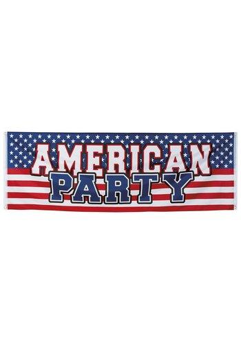 USA Party Spandoek - 220x74cm