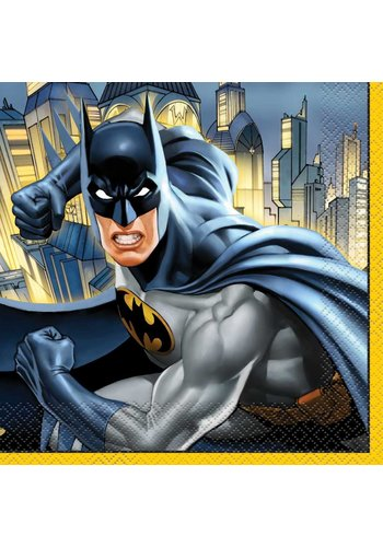 Batman servetten 33x33cm - 16 stuks