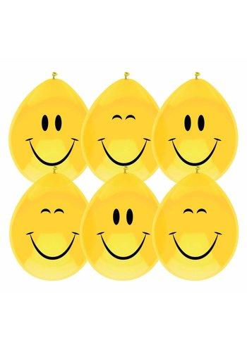 Ballonnen Smiley - 6 stuks
