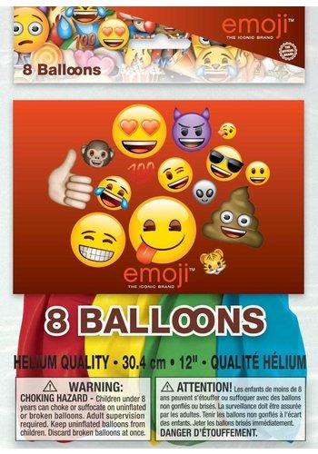 Emoij ballonnen - 8 stuks