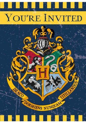Harry Potter uitnodigingen - 8 stuks