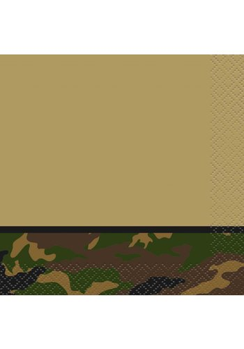 Camouflage servetten 33x33cm - 16 stuks