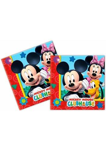 Mickey Mouse servetten 33x33cm - 20 stuks