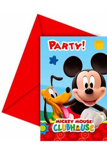 Mickey Mouse uitnodigingen - 6 stuks