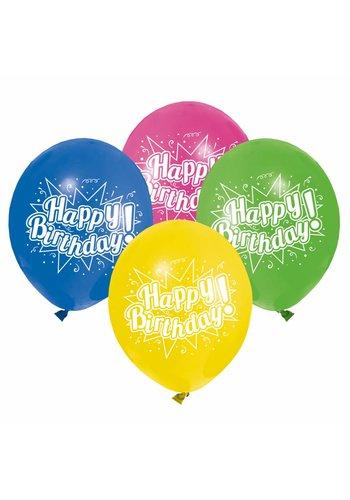 Balloons ballonnen Happy Birthday - 8 stuks