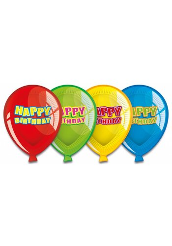 Balloons bordjes 23cm - 6 stuks