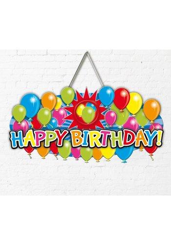 Balloons Deurdeco 3D Happy Birthday