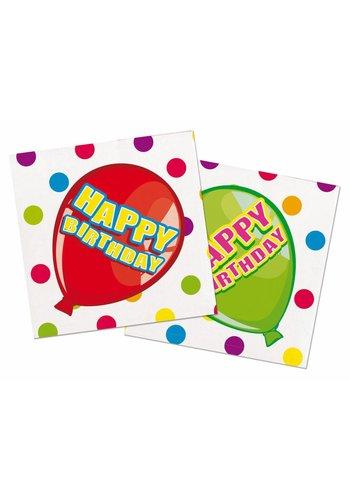 Balloons servetten 25x25cm - 16 stuks