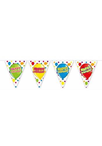 Balloons vlaggenlijn Happy Birthday - 6 meter