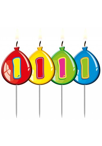 Balloonshape kaarsje 1