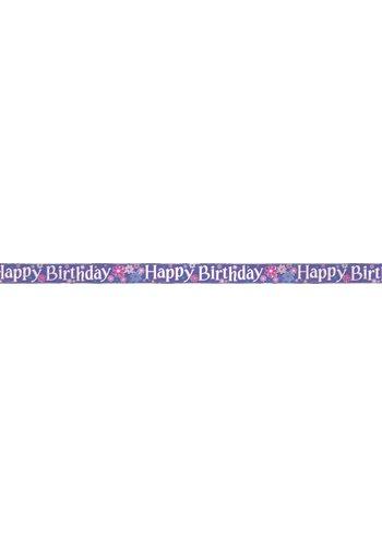 Blossom banner Happy Birthday - 365cm