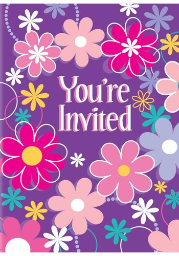 Blossom uitnodigingen - 8 stuks