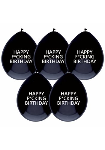Happy F*cking Birthday ballonnen - 6 stuks