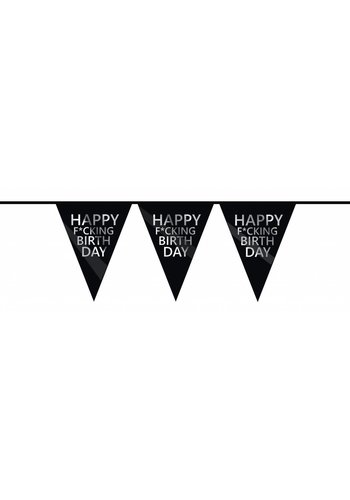 Happy F*cking Birthday vlaggenlijn - 6 meter