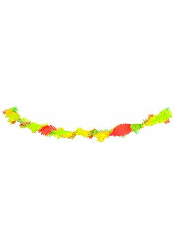 Crepe Guirlande Neon Multi Color - 18 meter